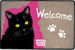 Waggy Tails - Black Cat - Indoor Mat - Fußabstreifer - Dekorativ