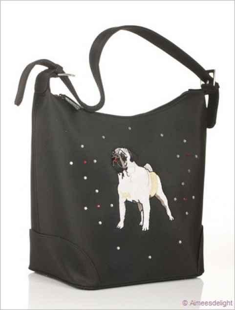 Mops Handtasche Black Pug Haustierbedarf Shop Goodies Fur